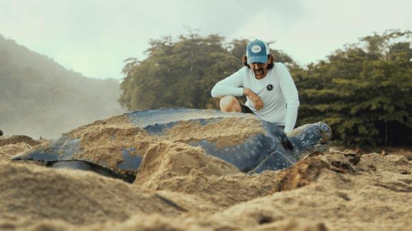 leatherback turtle bycatch film Trinidad