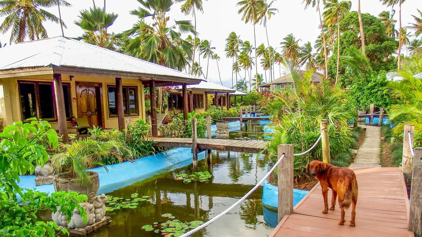 Accommodations at the Beqa Lagoon Resort. © Roger Harris