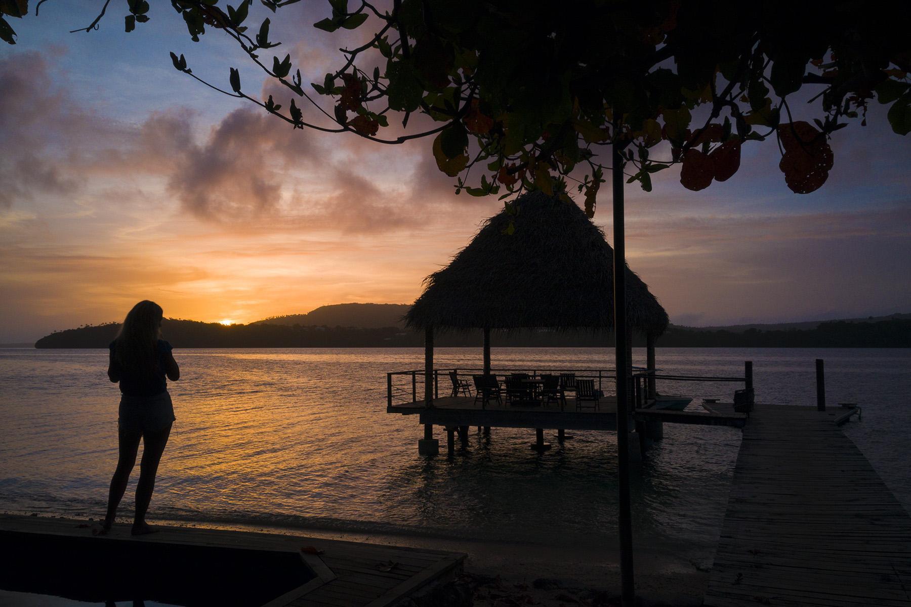 Tonga sunset