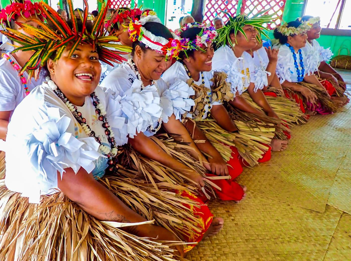 A traditional meke performance at Kioa Island. © Roger Harris