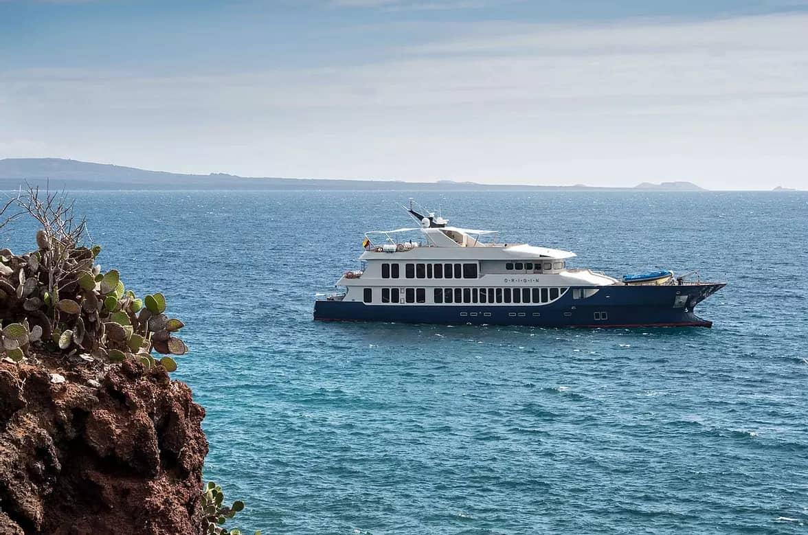Galapagos small cruise ship