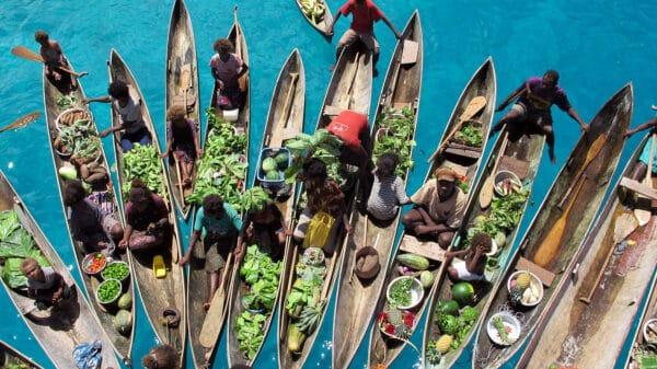 floating market in Solomon Islands