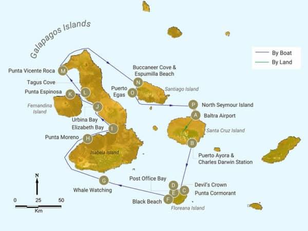 galapagos west itinerary