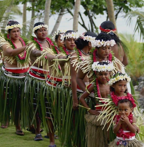 Traditional dance in Ulithi Atoll