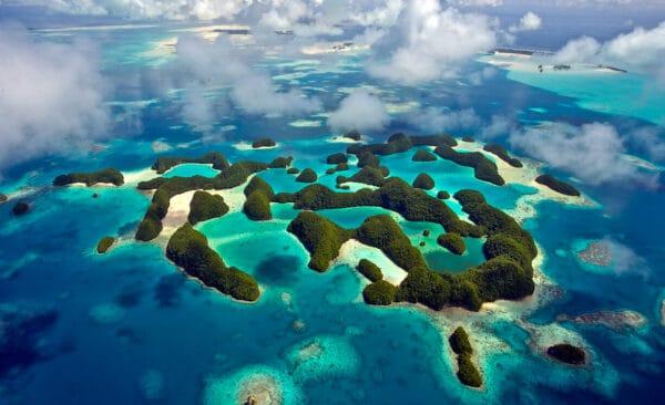 Palau Rock Islands aerial
