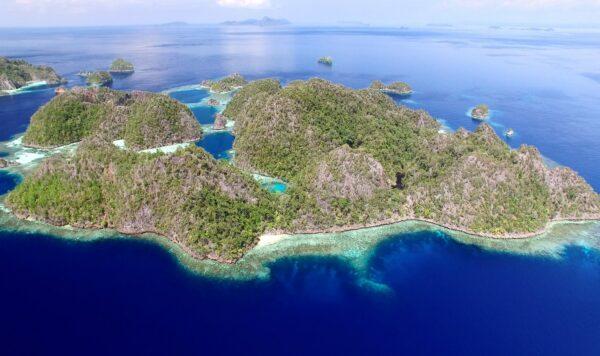 Raja Ampat island aerial