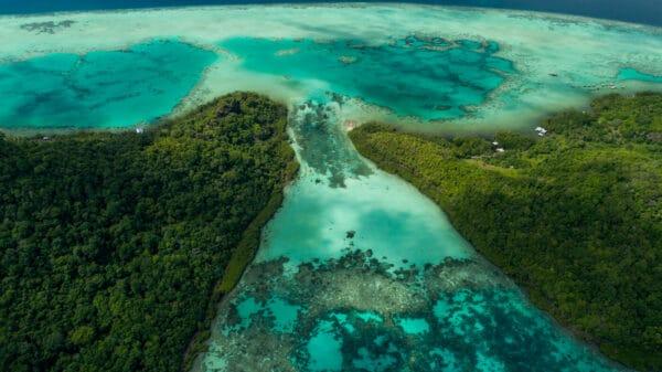 semporna islands aerial