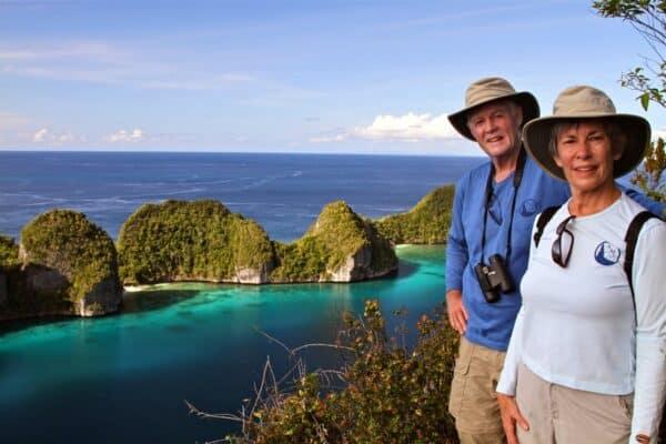 travelers in Raja Ampat