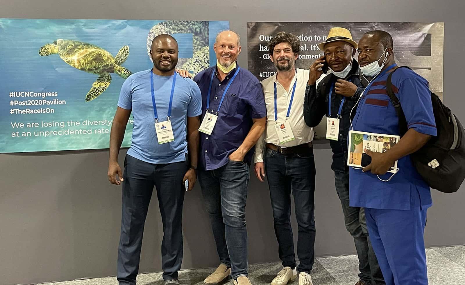 sea turtle specialists at IUCN Congress