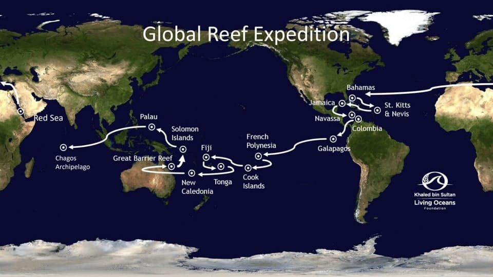 map of global reef expedition